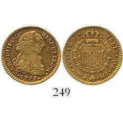 Mexico City, Mexico, bust 1 escudo, Charles III, 1775FM, ex-Eliasberg.