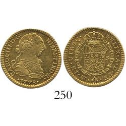 Mexico City, Mexico, bust 1 escudo, Charles III, 1778FF, ex-Eliasberg.