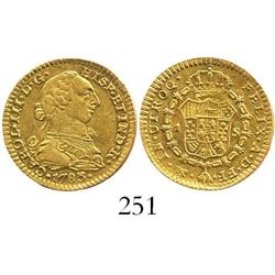 Mexico City, Mexico, bust 1 escudo, Charles III, 1783FF.