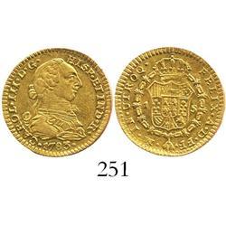 Mexico City, Mexico, bust 1 escudo, Charles III, 1783FF.