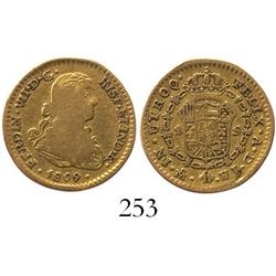 "Mexico City, Mexico, bust 1 escudo, Ferdinand VII (""armored"" bust), 1809HJ."