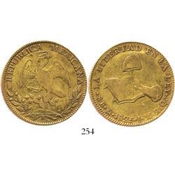 Mexico City, Mexico, 8 escudos, 1825JM.