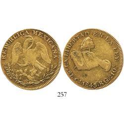 Chihuahua, Mexico, 8 escudos, 1845RG.
