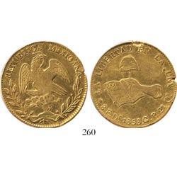 Durango, Mexico, 8 escudos, 1858CP.