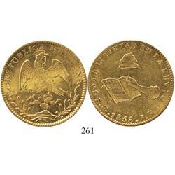 Guanajuato, Mexico, 8 escudos, 1858PF.
