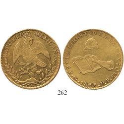 Guanajuato, Mexico, 8 escudos, 1859/4(?)PF.