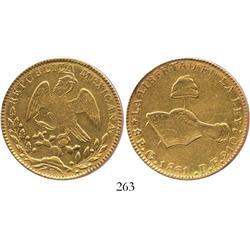 Guanajuato, Mexico, 8 escudos, 1861PF.