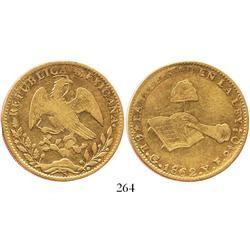 Guanajuato, Mexico, 8 escudos, 1862/1YE.