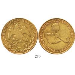 Culiacan, Mexico, 8 escudos, 1865CE.