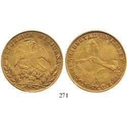 Culiacan, Mexico, 8 escudos, 1867CE/CB.
