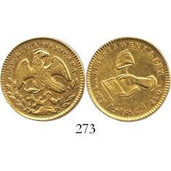 Mexico City, Mexico, 2 escudos, 1861CH.
