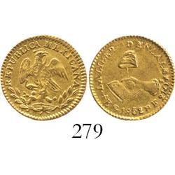 Guanajuato, Mexico, 1/2 escudo, 1852PF.