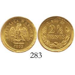Zacatecas, Mexico, 2-1/2 pesos, 1875/3A, low mintage.