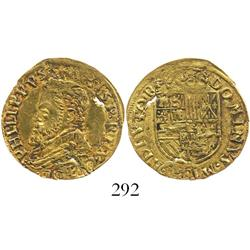 Holland, Spanish Netherlands, 1/2 real d'or, Philip II (1555-81).