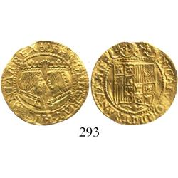 Overijssel, Spanish Netherlands, imitation ducat (portraits of Ferdinand and Isabel), Philip II (159