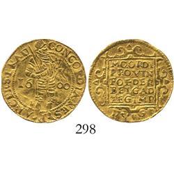 Utrecht, United Netherlands, ducat, 1600, rare.