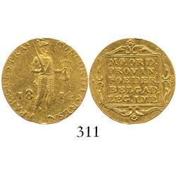Utrecht, United Netherlands, ducat, 1814.