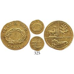 Lima, Peru, 1/2 escudo, 1851MB, rare.