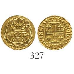 Lisbon, Portugal, 400 reis, Joseph I, 1752.