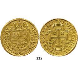 Seville, Spain, 8 escudos, 1721J.