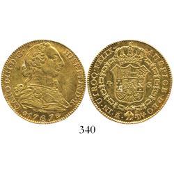 Madrid, Spain, bust 4 escudos, Charles III, 1787/6DV.