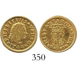 Seville, Spain, bust 1/2 escudo, Philip V, 1744PJ.