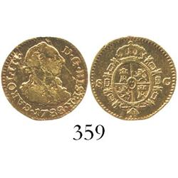 Seville, Spain, bust 1/2 escudo, Charles III, 1788C.