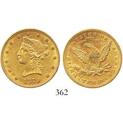 USA (Philadelphia mint), $10 eagle (Liberty head), 1879.