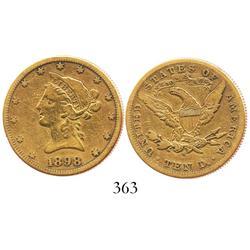 USA (San Francisco mint), $10 eagle (Liberty head), 1898.