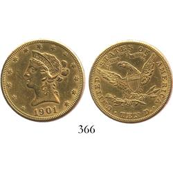 USA (San Francisco mint), $10 eagle (Liberty head), 1901-S.