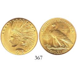 USA (Philadelphia mint), $10 eagle (Indian head), 1913, encapsulated PCGS MS-62.