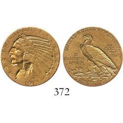 USA (Philadelphia mint), $5 Indian, 1913.