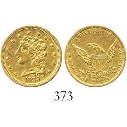 USA (Philadelphia mint), $2-1/2 quarter eagle (Liberty head), 1839.