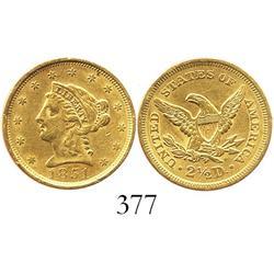 USA (Philadelphia mint), $2-1/2 quarter eagle (Liberty head), 1851.