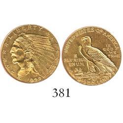 USA (Philadelphia mint), $2-1/2 Indian, 1928.