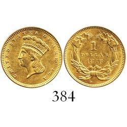 USA (Philadelphia mint), $1 Indian, 1856.