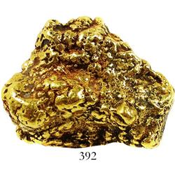 Large, natural gold nugget found in Mexico, estimated to be 85%-95% pure, 117.1 grams.