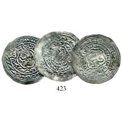 Lot of 3 dirhms of Yemen (Rasulids), Al Mujard (1322-1365).