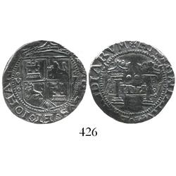 "Mexico City, Mexico, 2 reales, Charles-Joanna, ""Early Series,"" oMo to left, oPo to right."