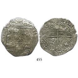 Potosi, Bolivia, cob 8 reales, (1)618PAL, rare and choice, Grade 1.
