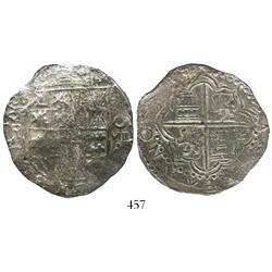 Potosi, Bolivia, cob 8 reales, (16)18PAL, rare, Grade 2.