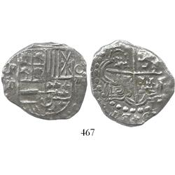 Potosi, Bolivia, cob 8 reales, (162)0T, date at 5 o'clock (rare), Grade-2 quality but Grade 1 on cer