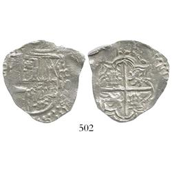 Potosi, Bolivia, cob 4 reales, (1)6(1)7(M), Grade 1.