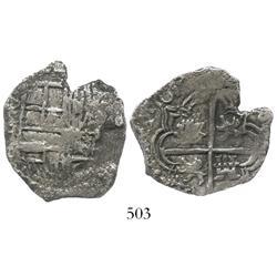 Potosi, Bolivia, cob 4 reales, 161(7)M, Grade 1.