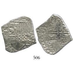 Potosi, Bolivia, cob 4 reales, 1619T, Grade 2.