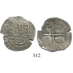 Potosi, Bolivia, cob 2 reales, (16)17M, Grade 1.