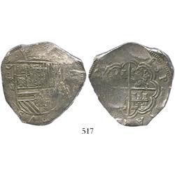 Cartagena, Colombia, cob 8 reales, (1622)(A), Grade 1, rare.