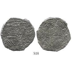 Cartagena, Colombia, cob 8 reales, (162)2A, Grade 2, rare.