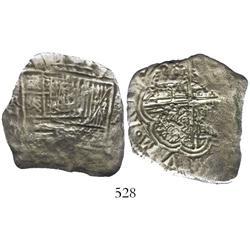 Cartagena, Colombia, cob 8 reales, Philip IV, (1622)A, Grade 3, rare.