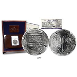 "Mexico City, Mexico, cob 8 reales, Philip II or III, assayer F, encapsulated NGC ""SHIPWRECK EFFECT"""